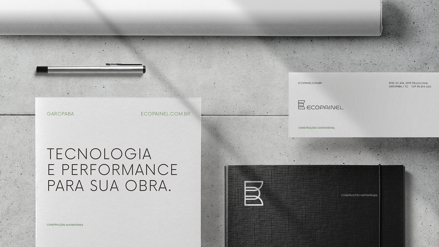 architecture ARQUITETURA design gráfico ecopainel graphic design  identidade visual Sustainability sustentabilidade visual identity