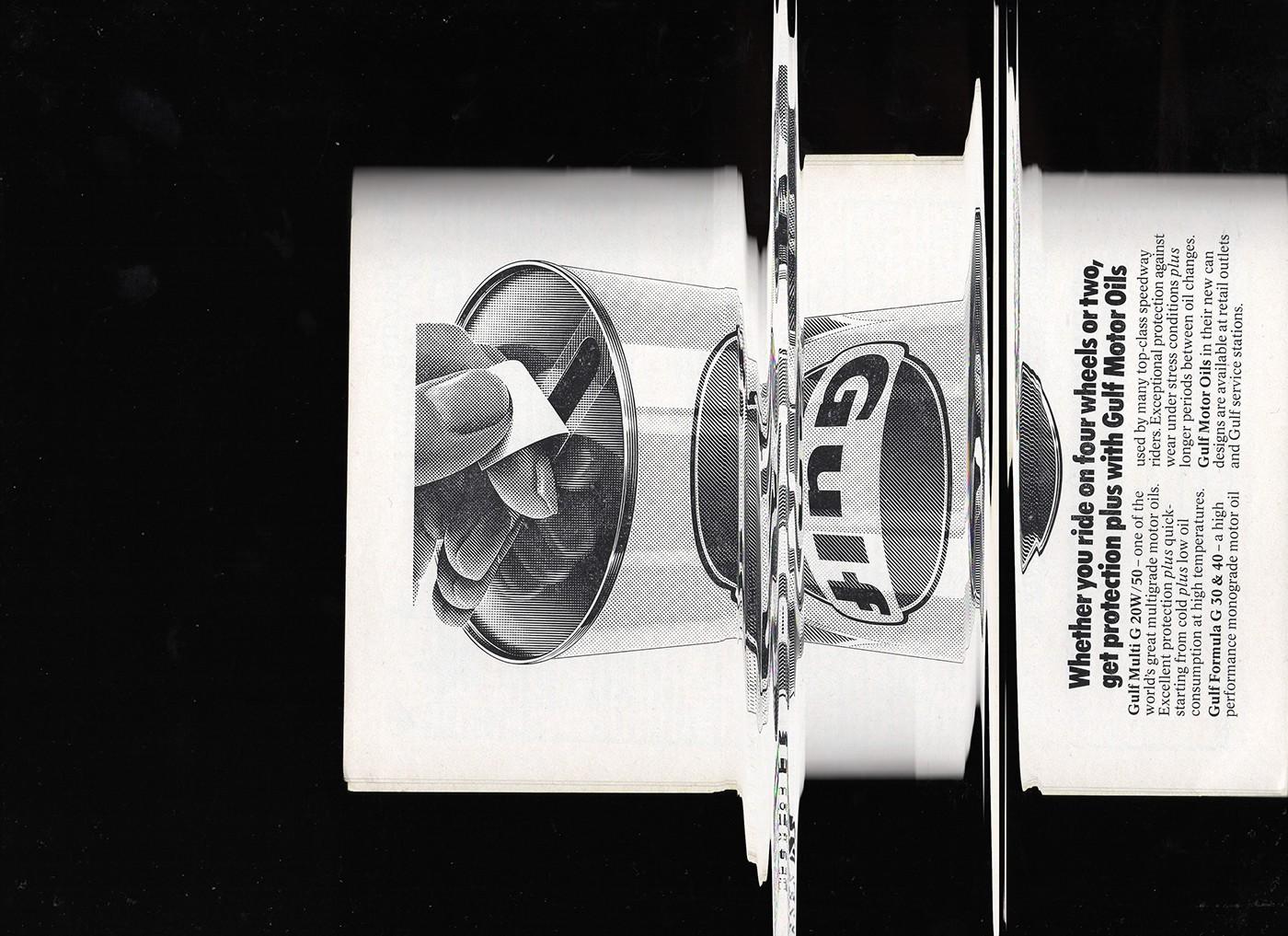 Speedway vintage graphic Glitch