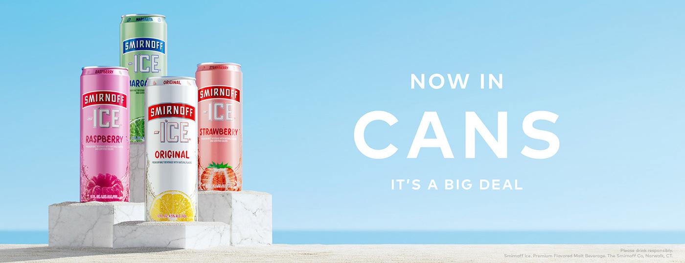 Smirnoff ice SmirnoffIce cans can summer CGI drop teaser launch