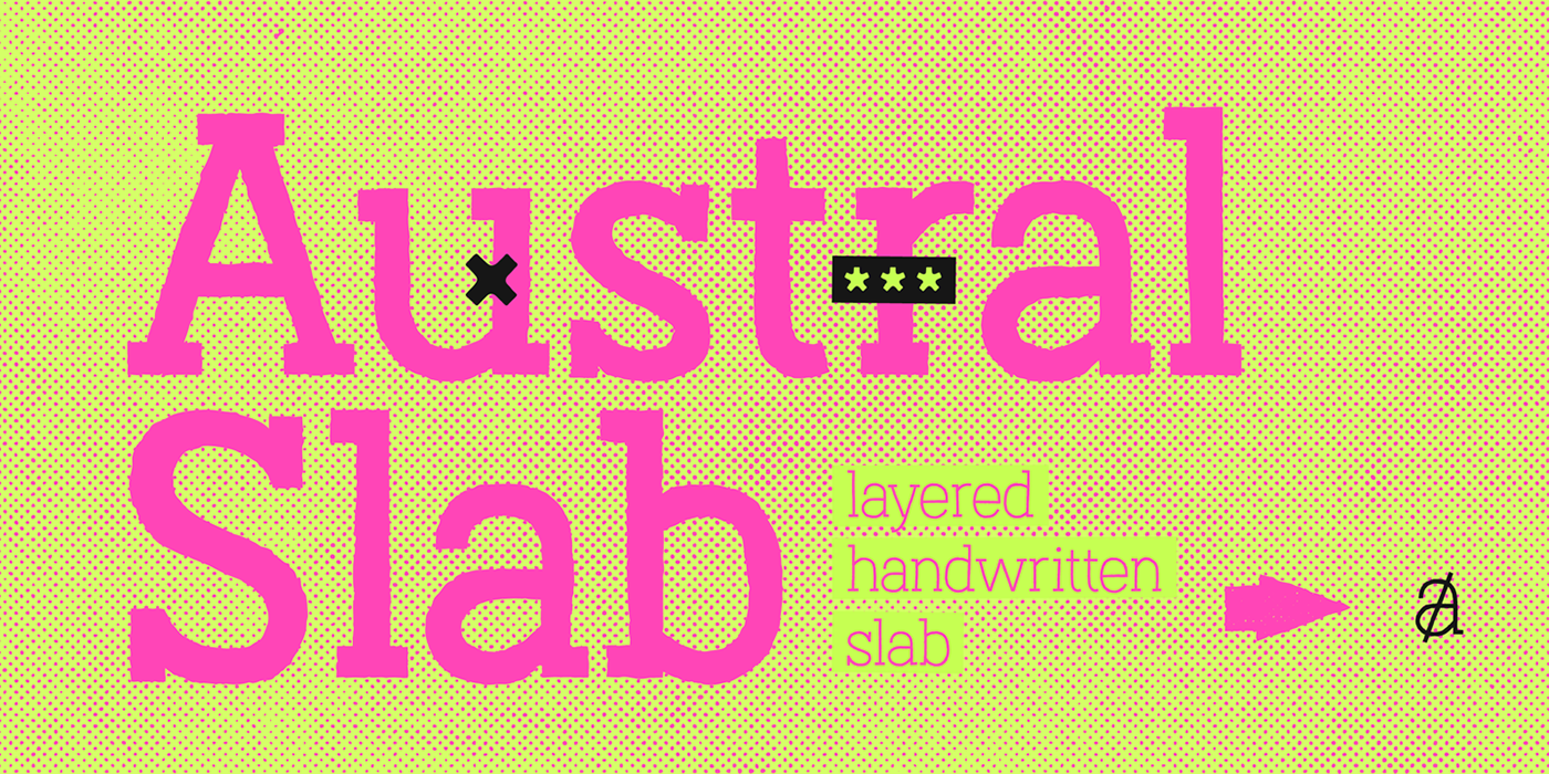 type tipografia font slab regular thin light texture map rough rust stamp Spots layers free