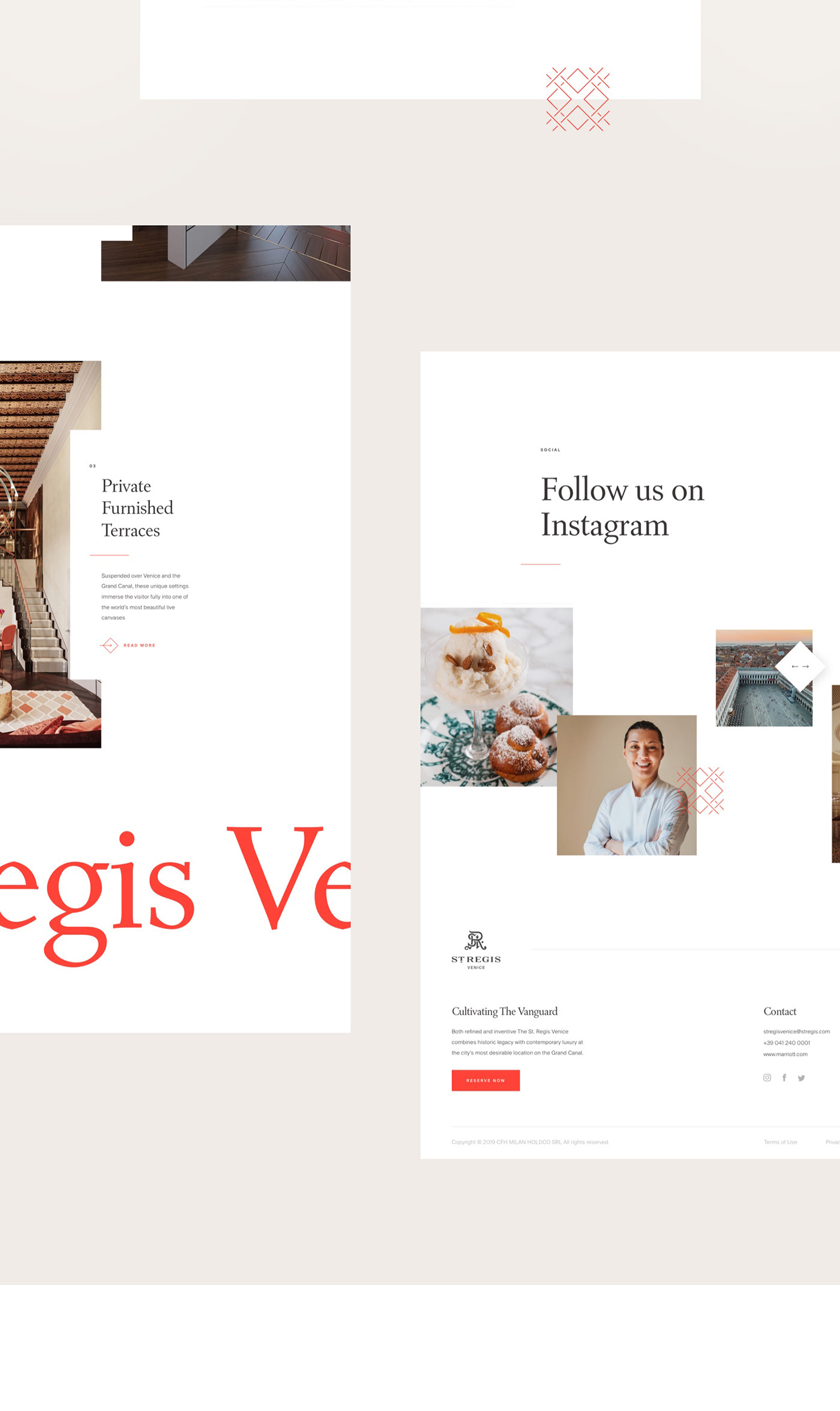 multiple modules of the St.Regis one pager