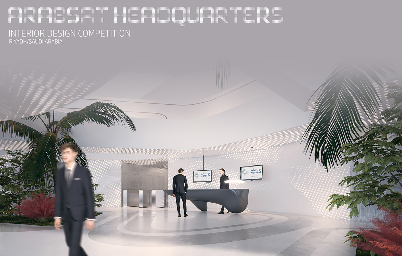 ARABSAT HEADQUARTERS Interior Design Competition On Behance