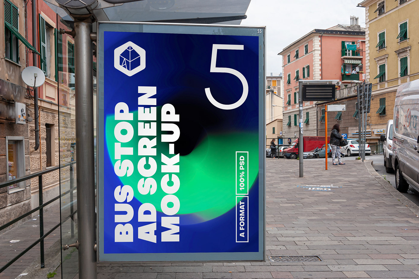 ad Advertising  bus BusStop mock-up Mockup poster screen STATION Street