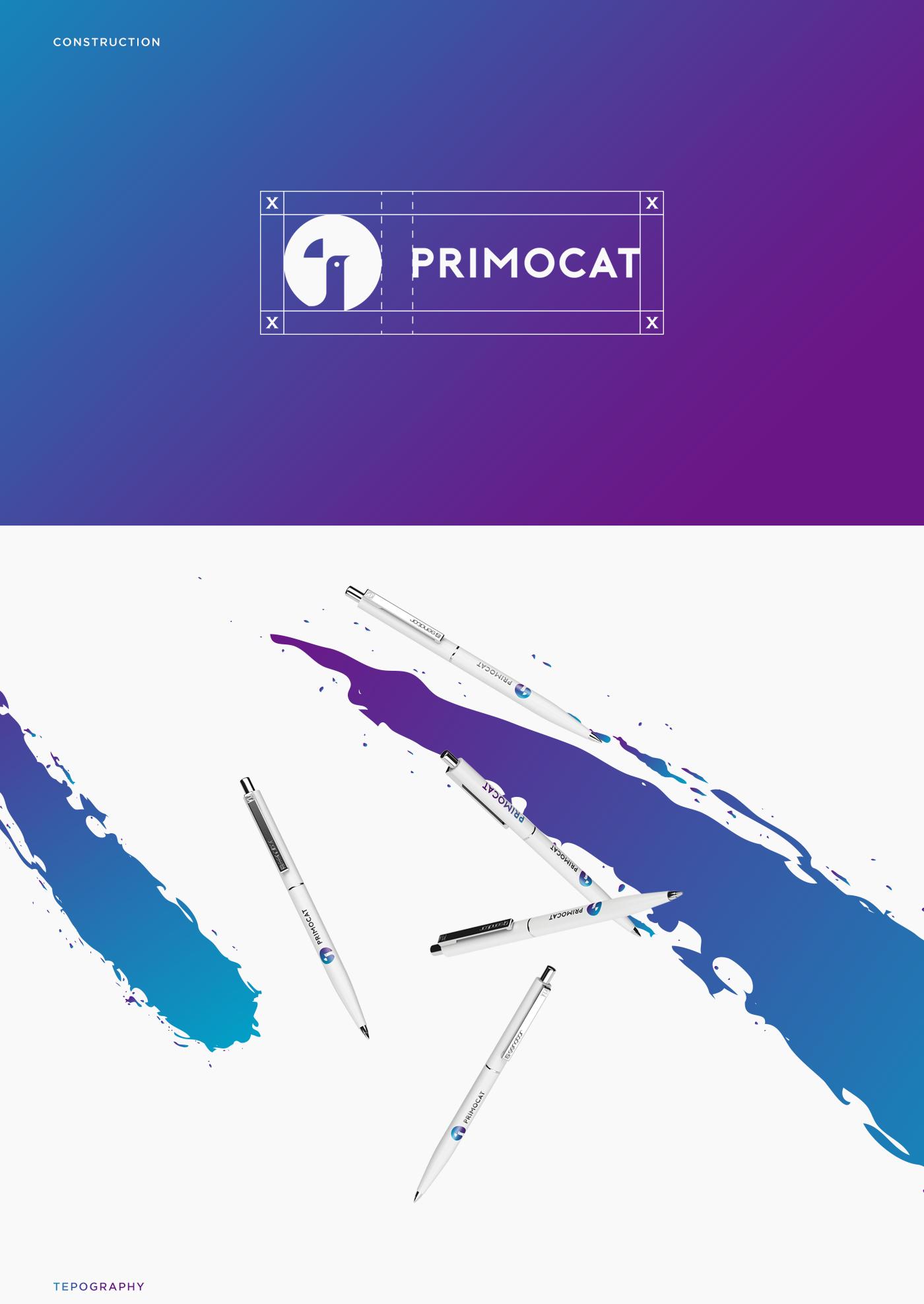 primocat brand logo design paint bucket company tcz BRANANDING