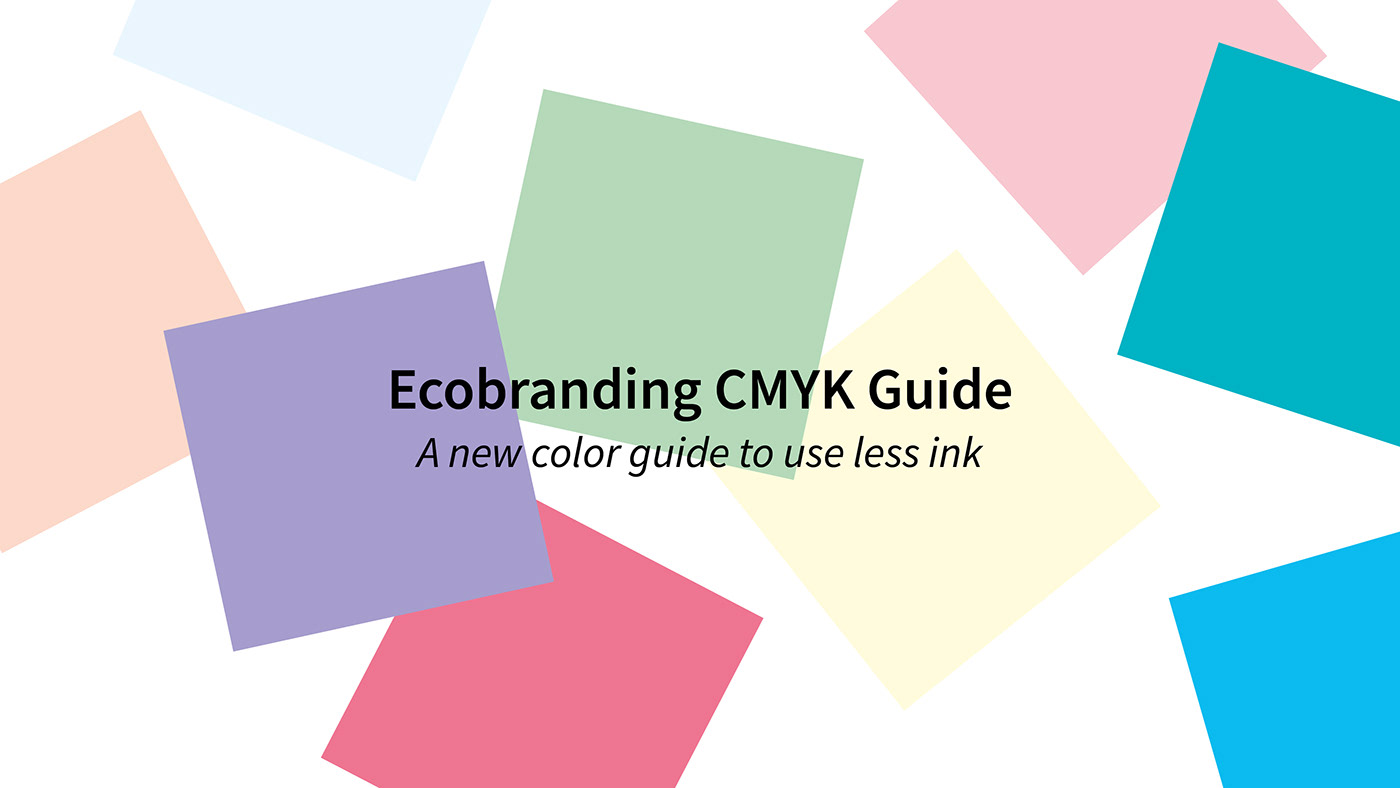 color Guide swatch chart colour palette eco Sustainable Environnement ink