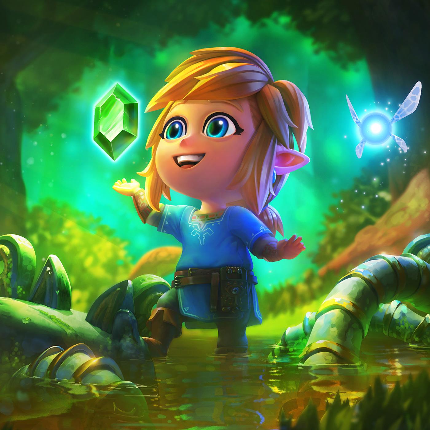 2D 3D cute fanart fantasy gameart ILLUSTRATION  link Nintendo zelda