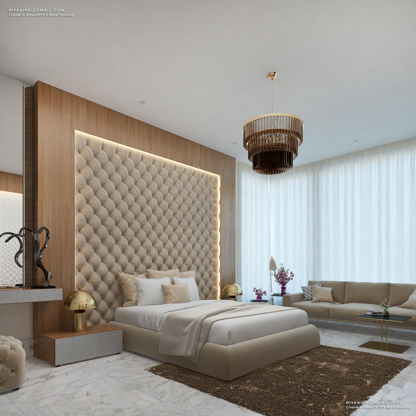 Luxury Master Bedroom Dubai On Behance: VR 360 On Behance