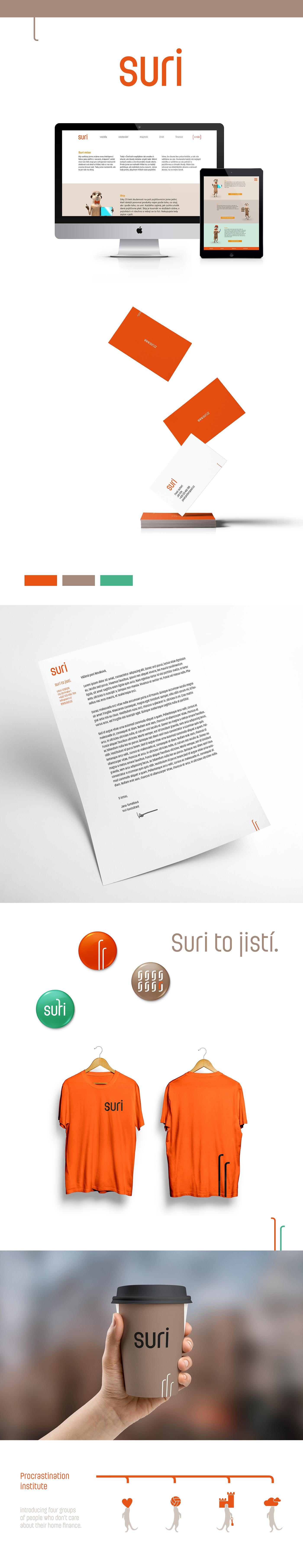 logo suri insurance finance Corporate Identity branding  ladislav art direction  graphic design