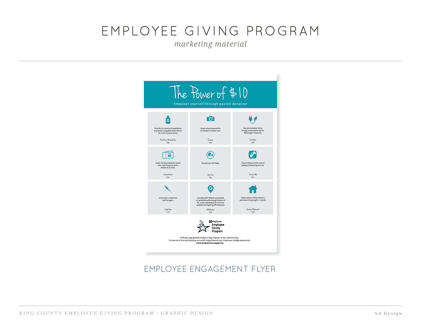 Employee Engagement fundraising marketing   Puget Sound King County
