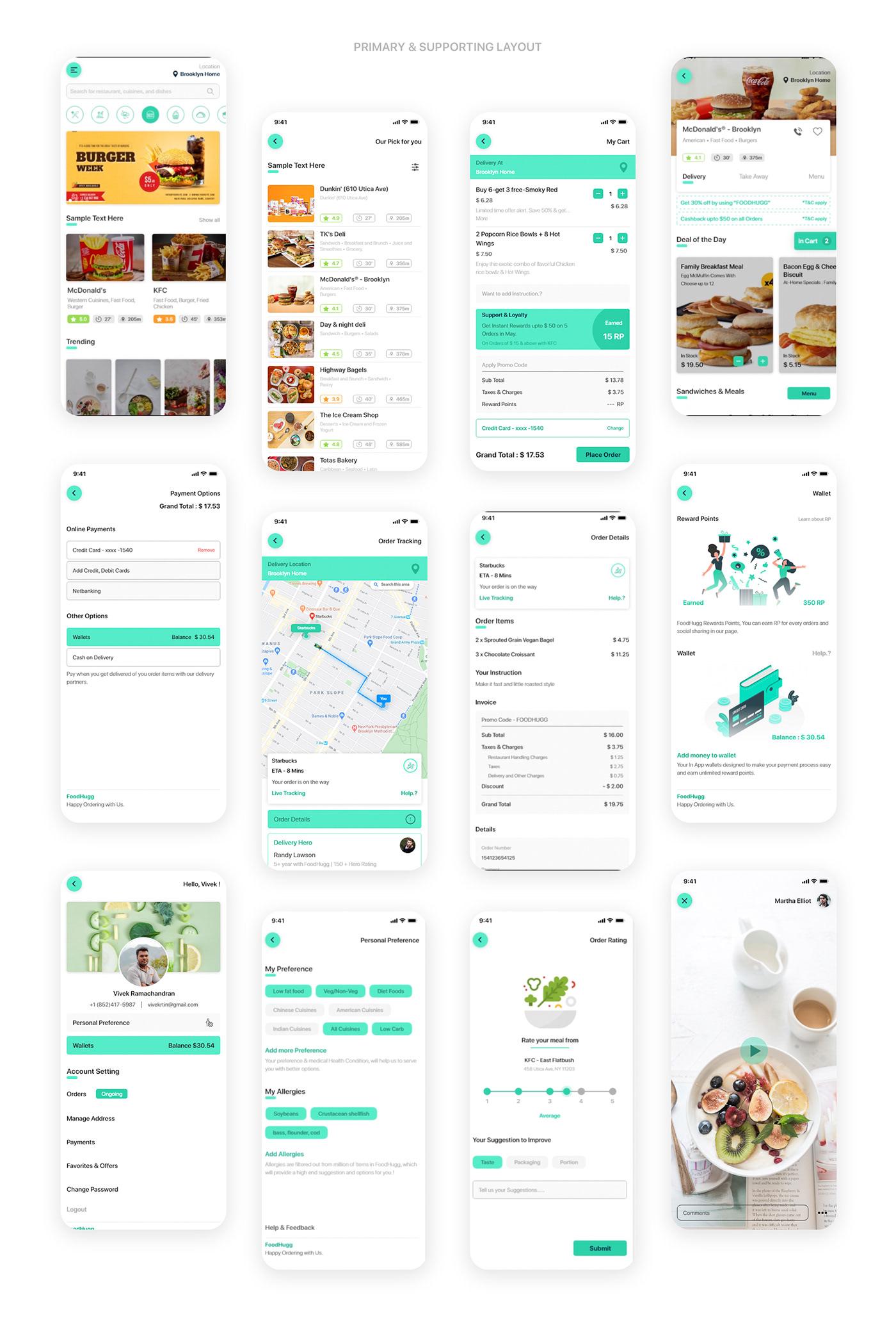 app delivery app Food  food app food ordering iOS App Mobile app Restaurant app UI/UX