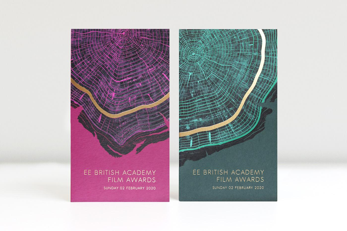 2 colour version invitation to the BAFTAS