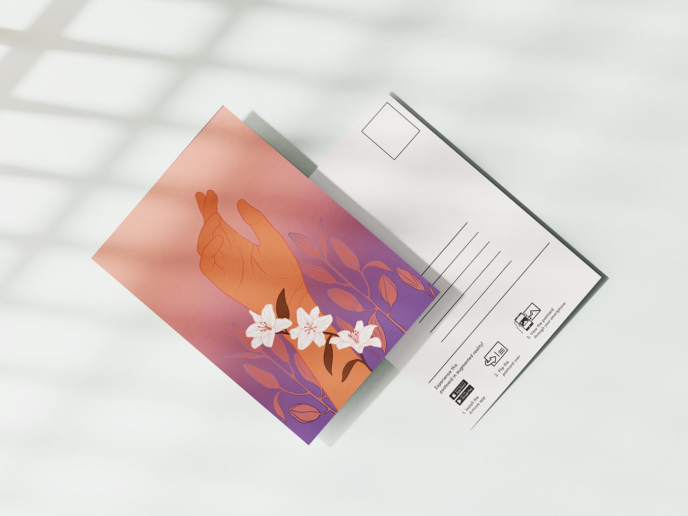 animation  AR artivive connection graduation project ILLUSTRATION  Love Relationships UI/UX Design