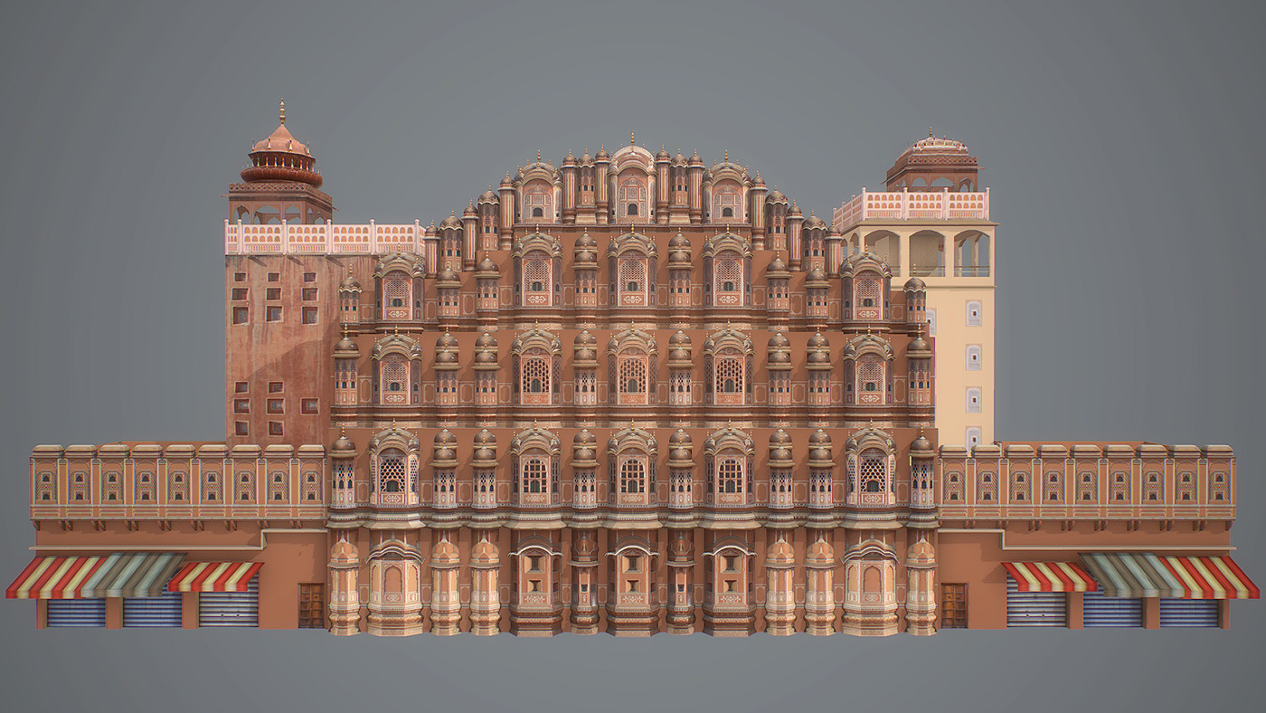 hawa mahal india The massive edifice of hawa mahal stands at the intersection of the main road in jaipur, badi chaupad it is regarded as the signature building of the city and was built by maharaja sawai pratap singh in the year 1799 hawa mahal derives its name from its unique structure, which is a mesh of small.