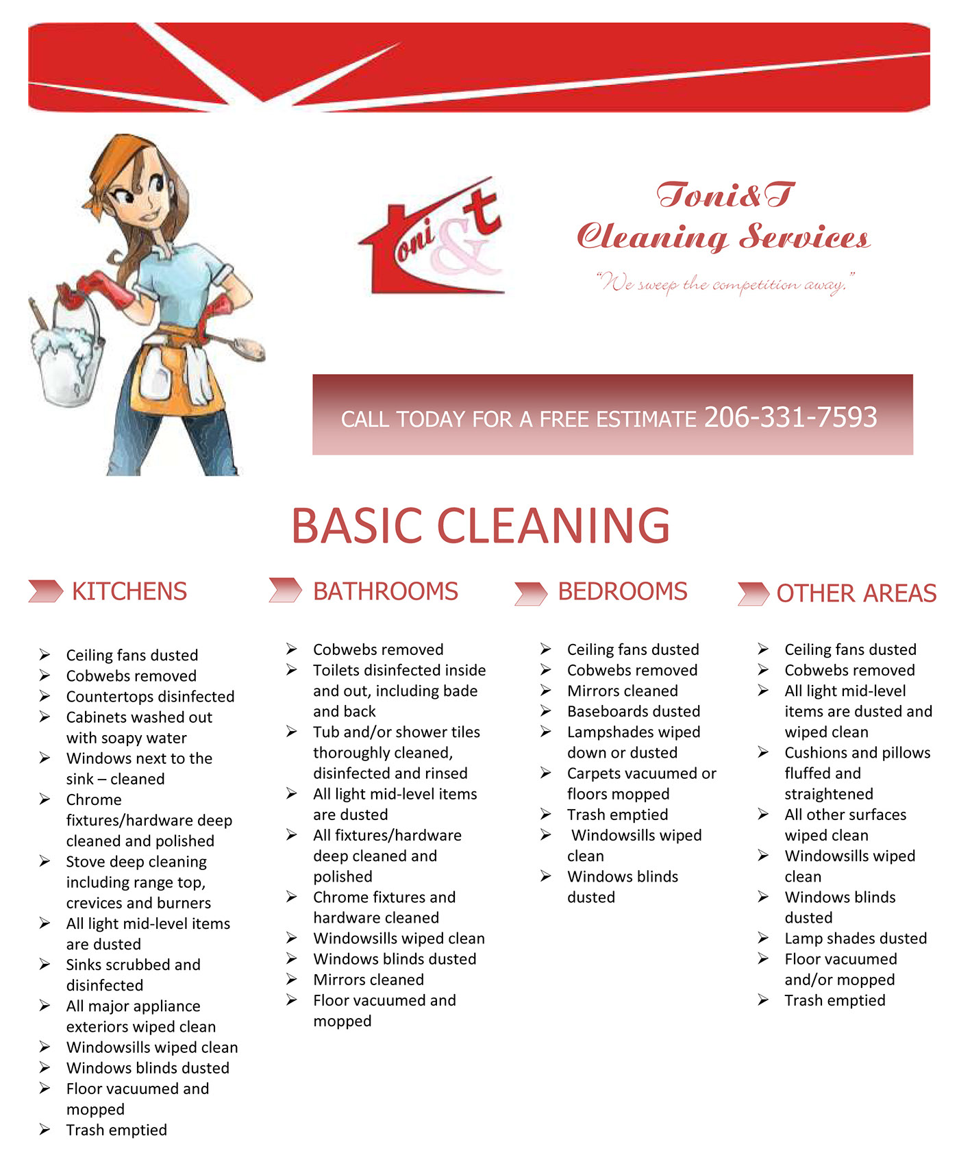 flyer for a cleaning services company on behance