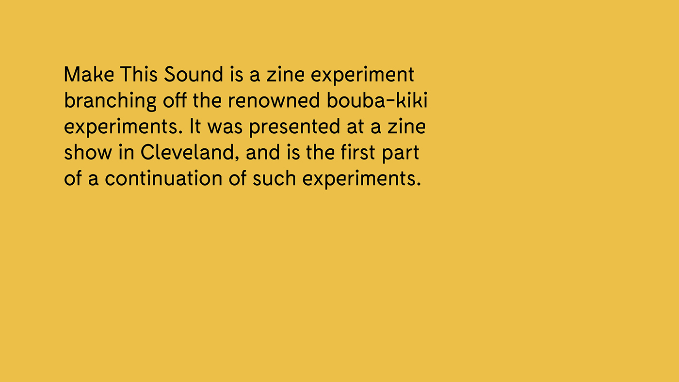edition Zine  make this sound kiki bouba experiment
