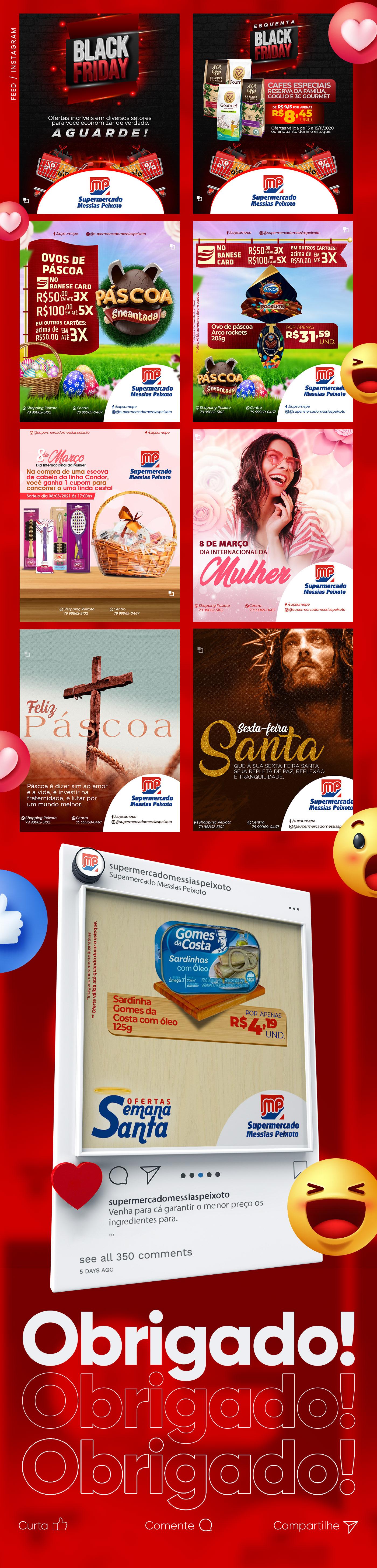 facebook instagram marketing digital Ofertas photoshop Promoções rede social sergipe social media supermercado