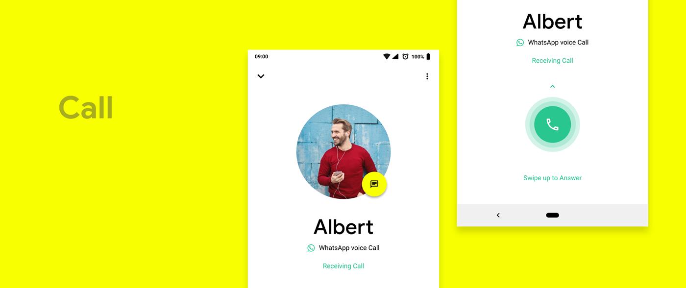 WhatsApp desig ux Interface UI design android material material design
