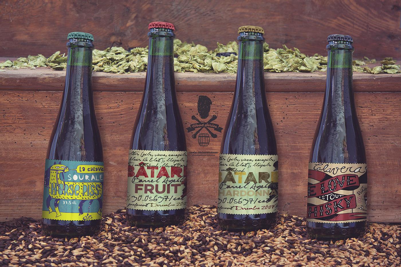 stair malt beer Mockup bottle psd photoshop wood design 375CL