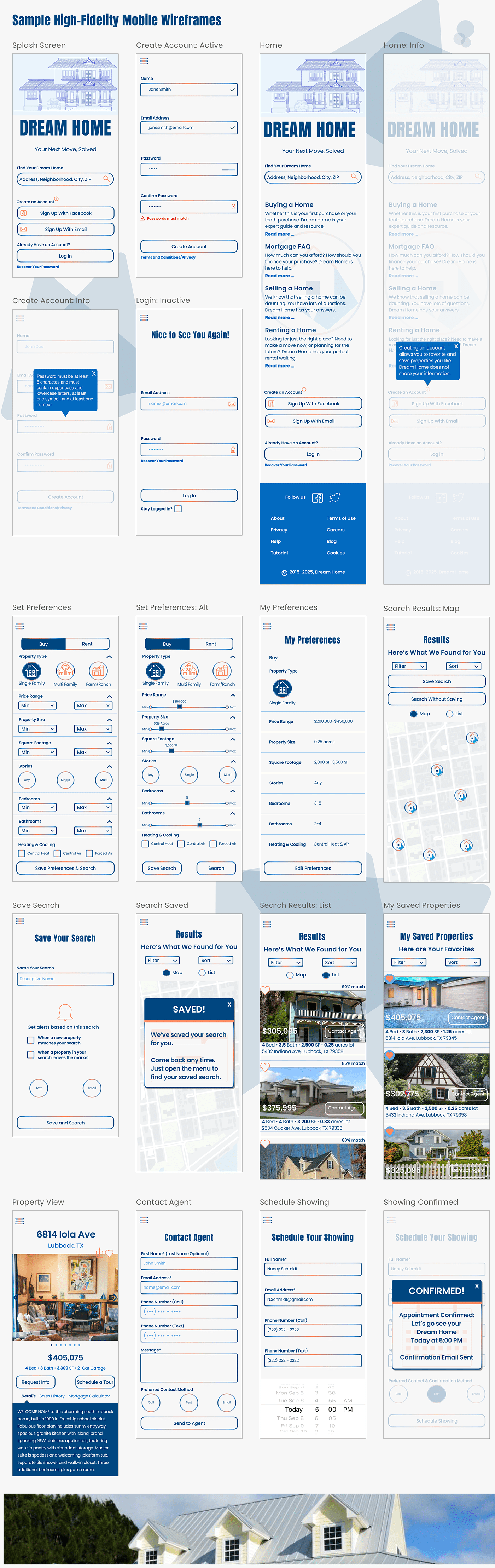 UI user experience real estate app Case Study