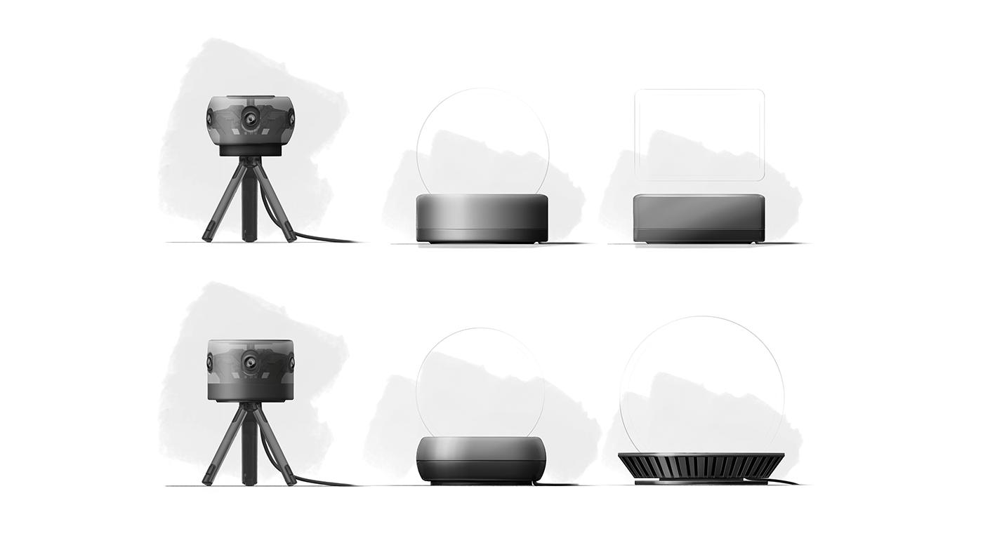 360 Camera conference translucent videocall professional engineering design product development 4K audio video recording PREMIUM CAMERA