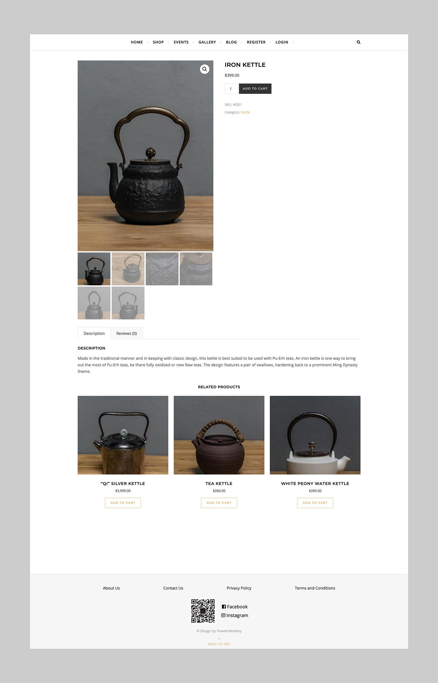 Ecommerce vancouver Web design development wordpress tea clean minimal modern
