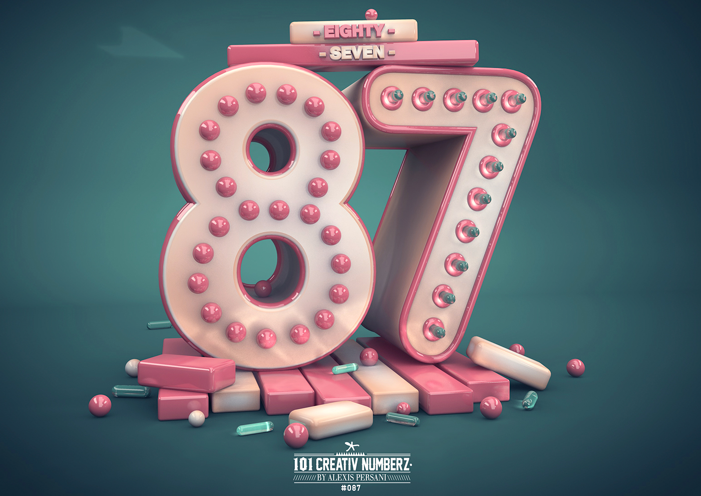 Outstanding 101 Creative Numbers Typography by Alexis Persani 81