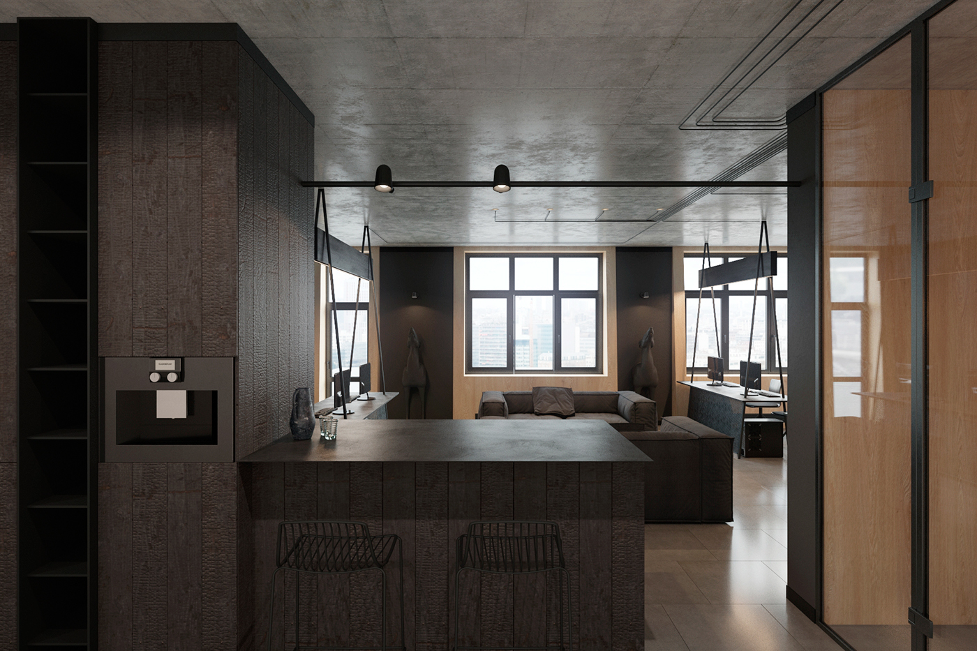 Designs Of The Interior Modern Office Interiorzooi Design Studio On Behance