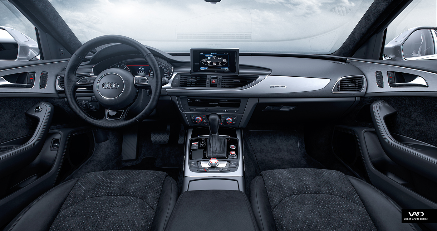 Charming Audi A6 Interior   Full CGI On Behance