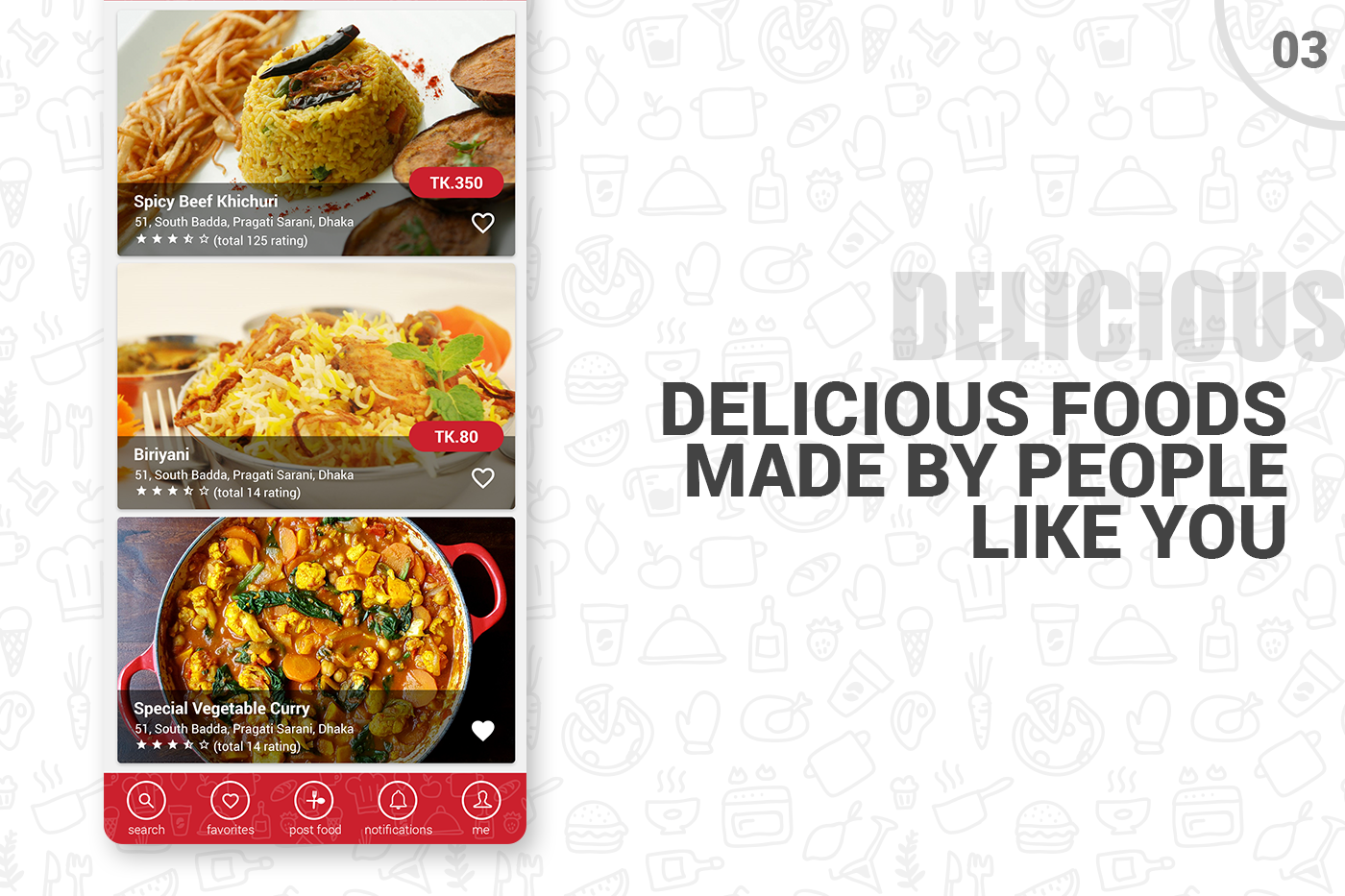 ui kit psd android psd template ux mobile premium Food  Order e-commerce