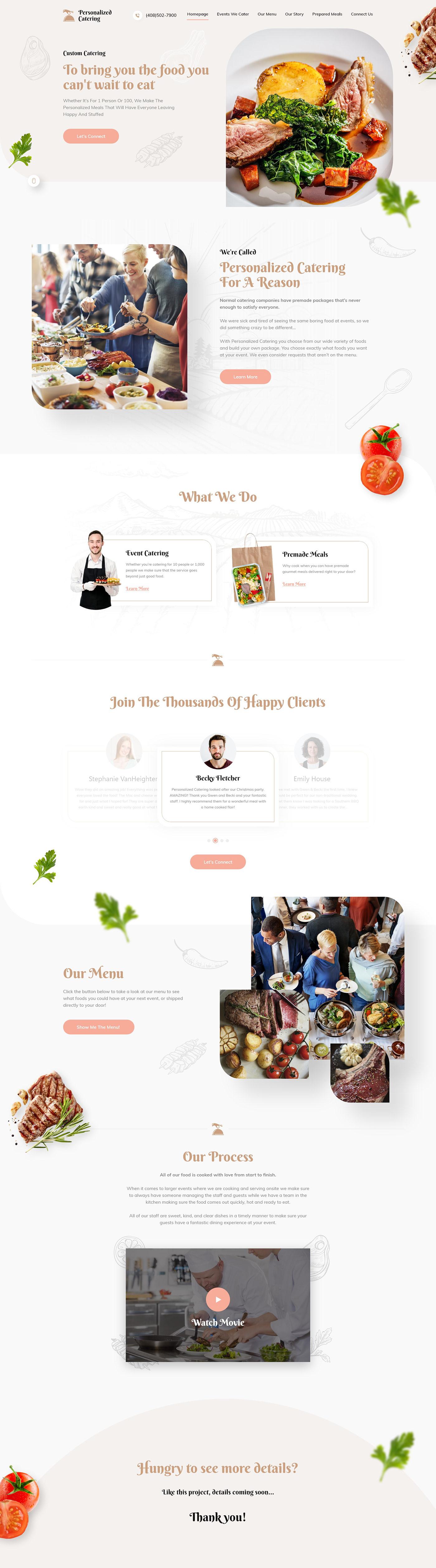 design Food  UI ux Website