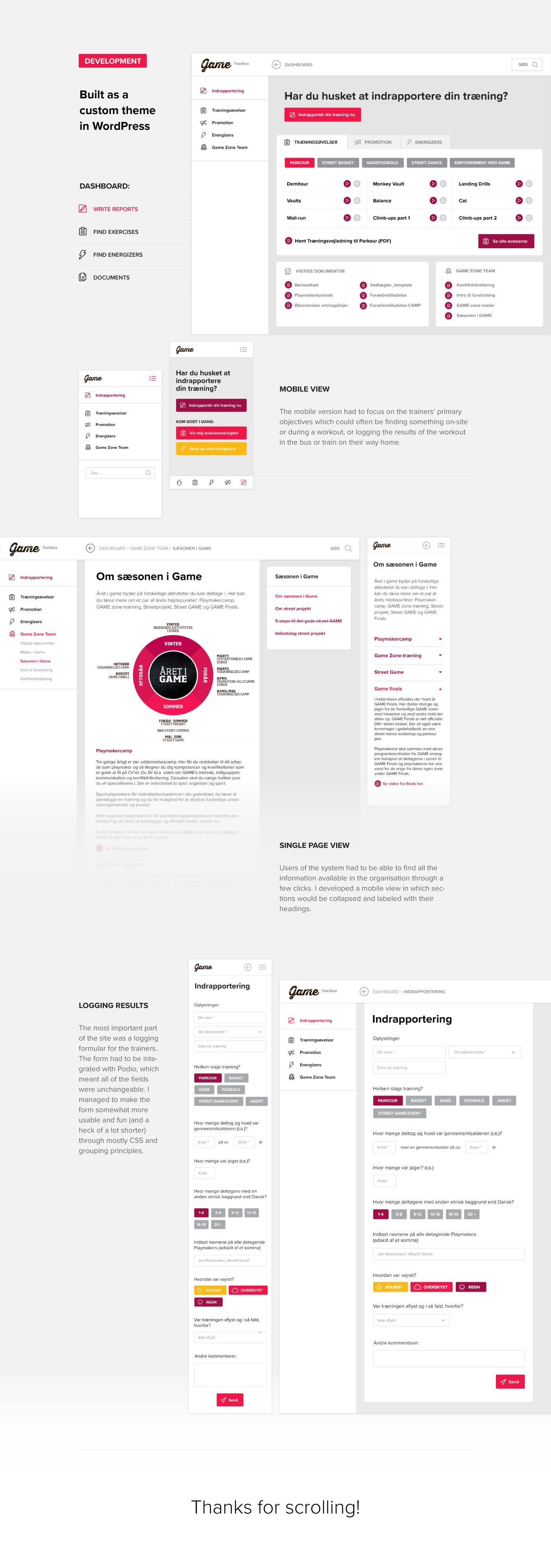WordPress: A custom WP theme for Game Denmark
