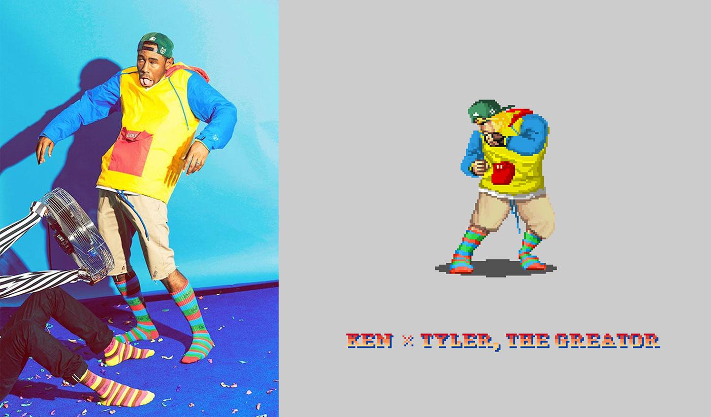 Fashion  pixel pixelart 8bit 8bitart joojaebum STREET FIGHTER capcom