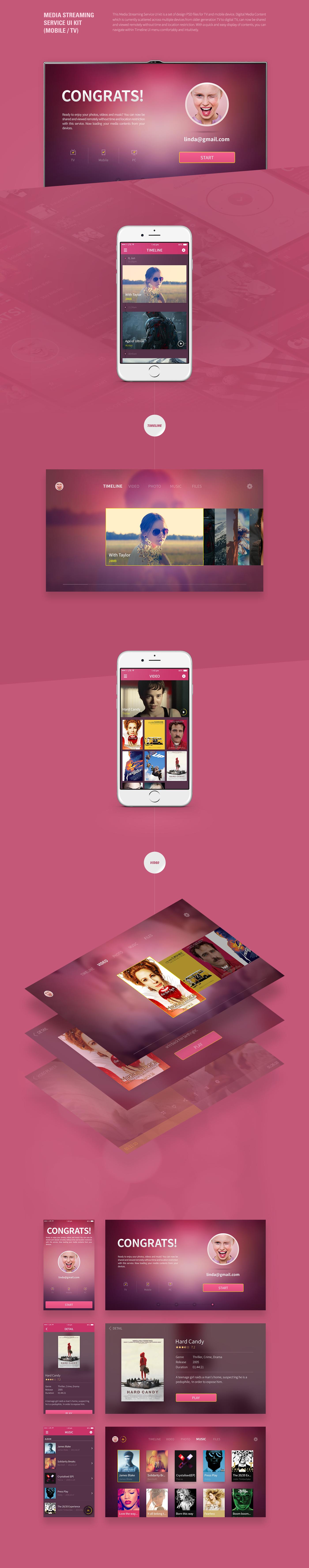 application tv mobile UI GUI ux