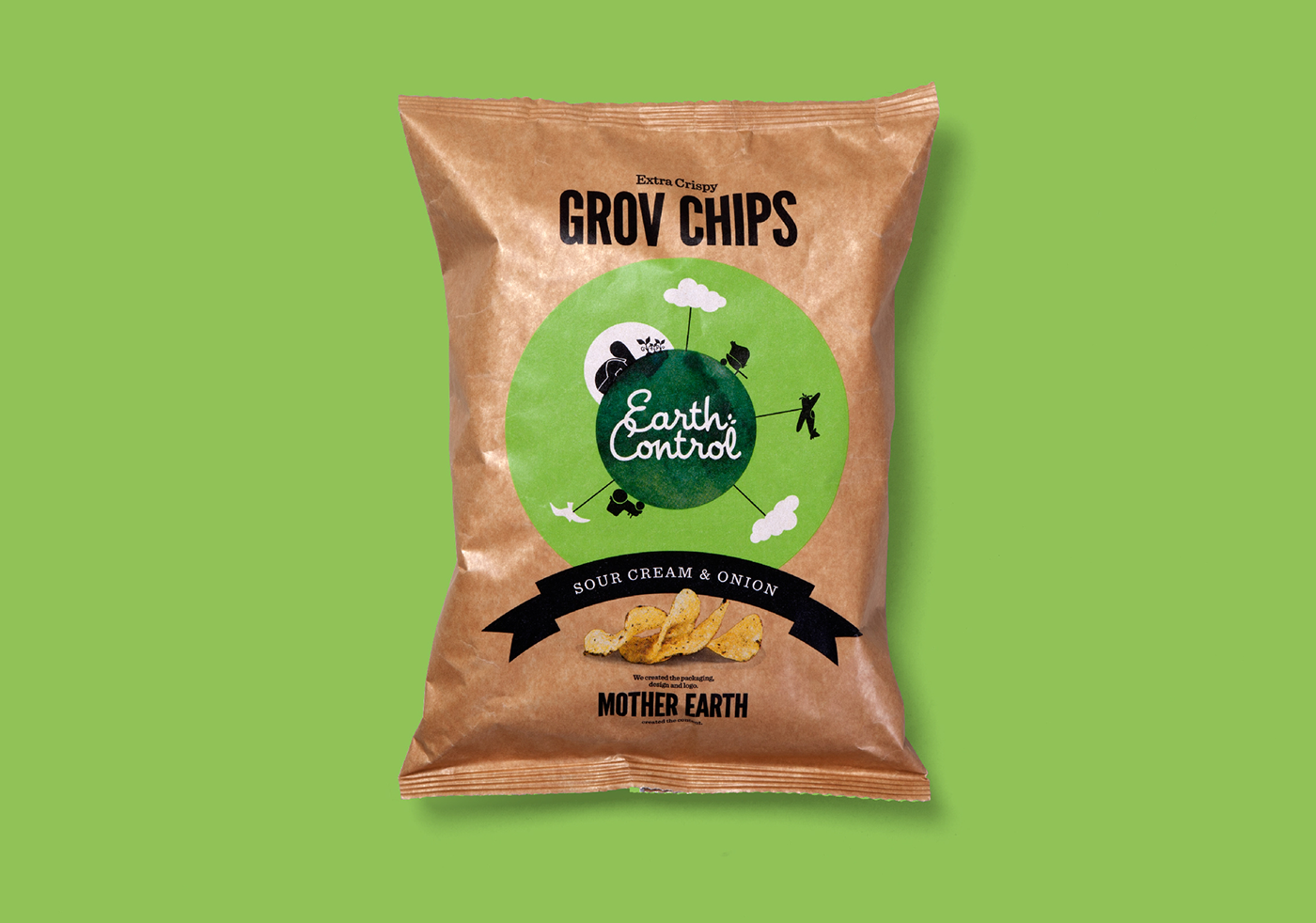 handcooked chips earth control universe handcooked chips Minimalism simple iconic CRISPS