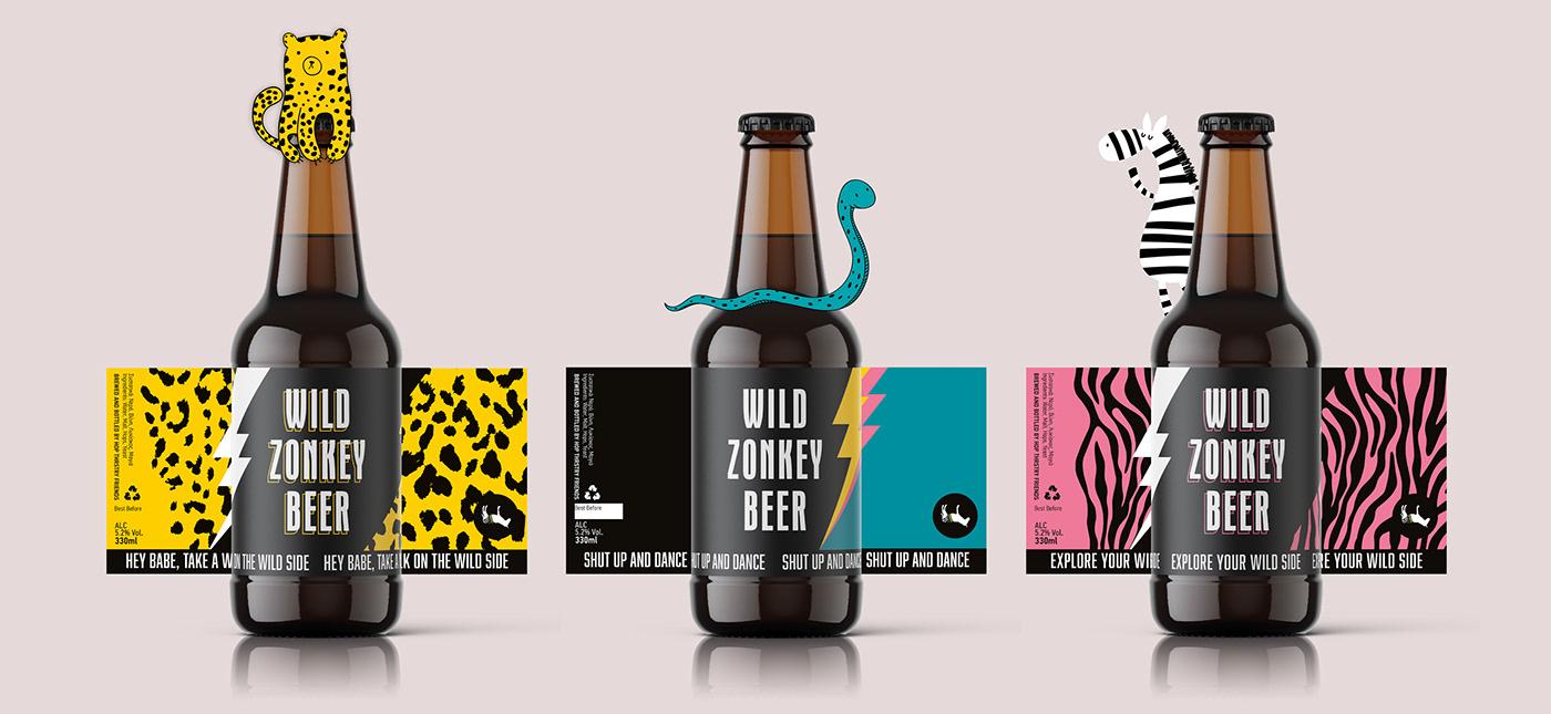 bar beer packaging design zonkey