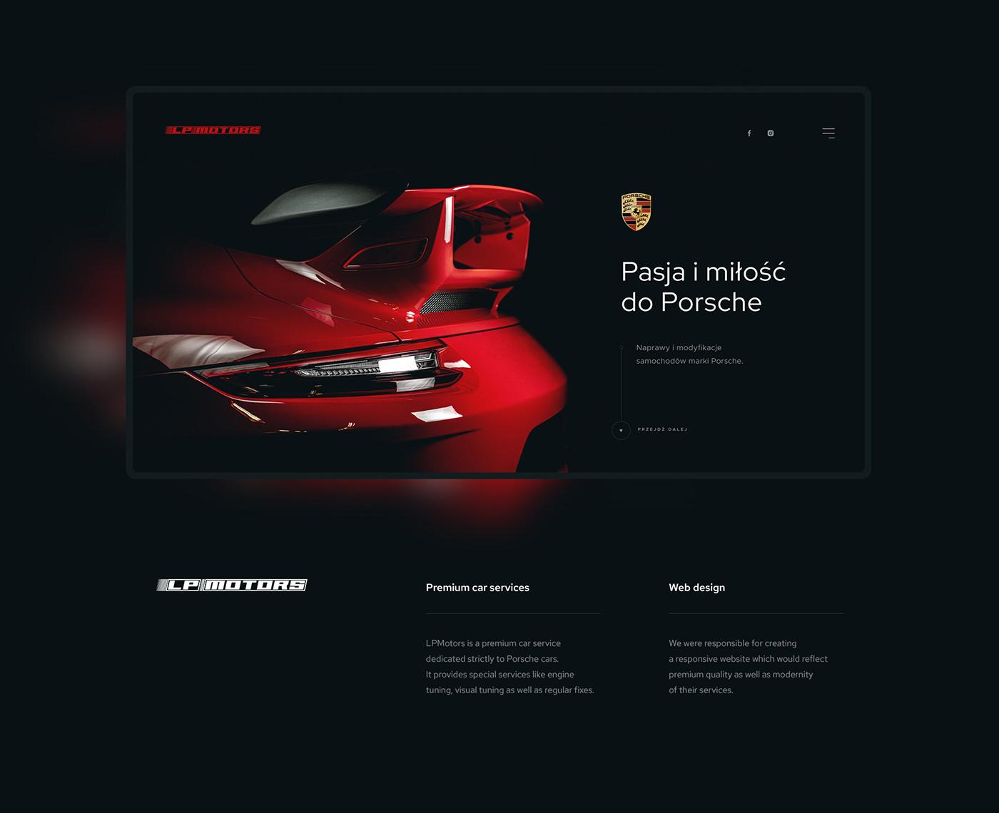 Auto automotive   car Cars dark Figma garage Mechanic Porsche Repair