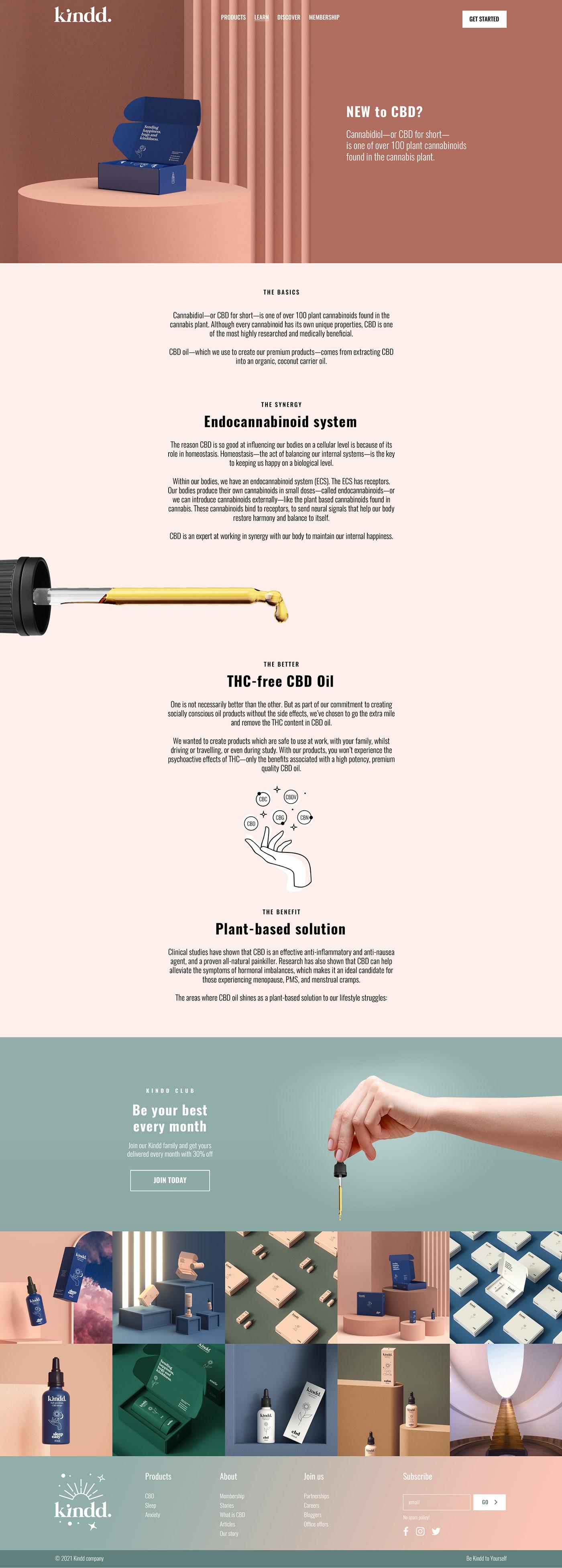 branding  CBD cbdoil UI ux Webdesign