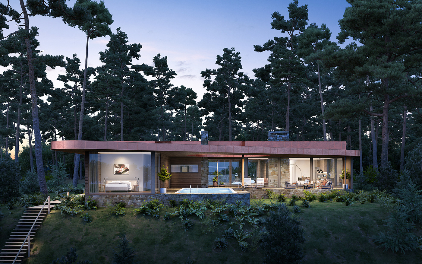 3D house architectural visual visualization visualisation finland norway Sweden Australia