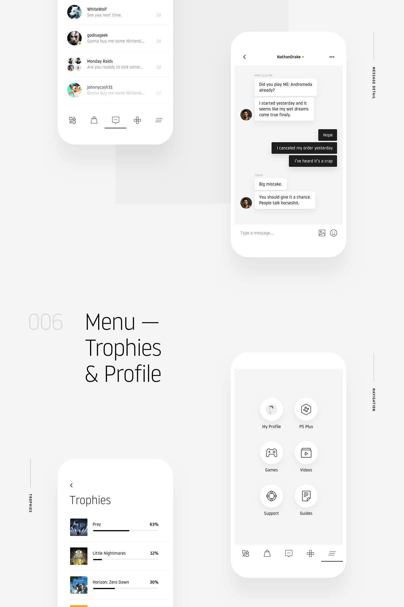 Playstation Minimalist App Design Concept