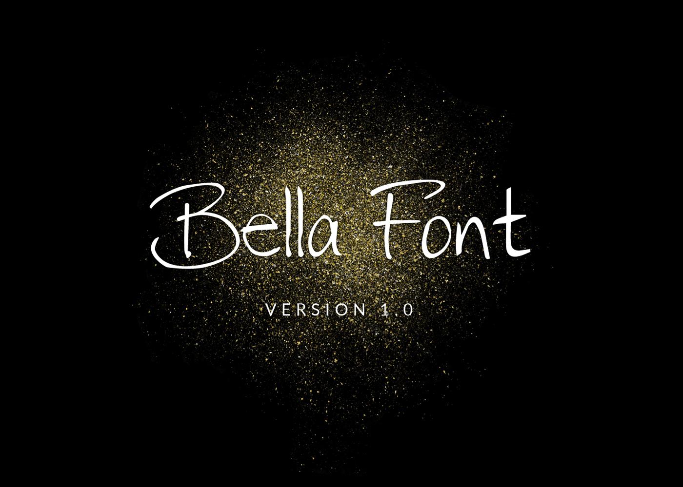 font Free font Bella bella font Script Font queen