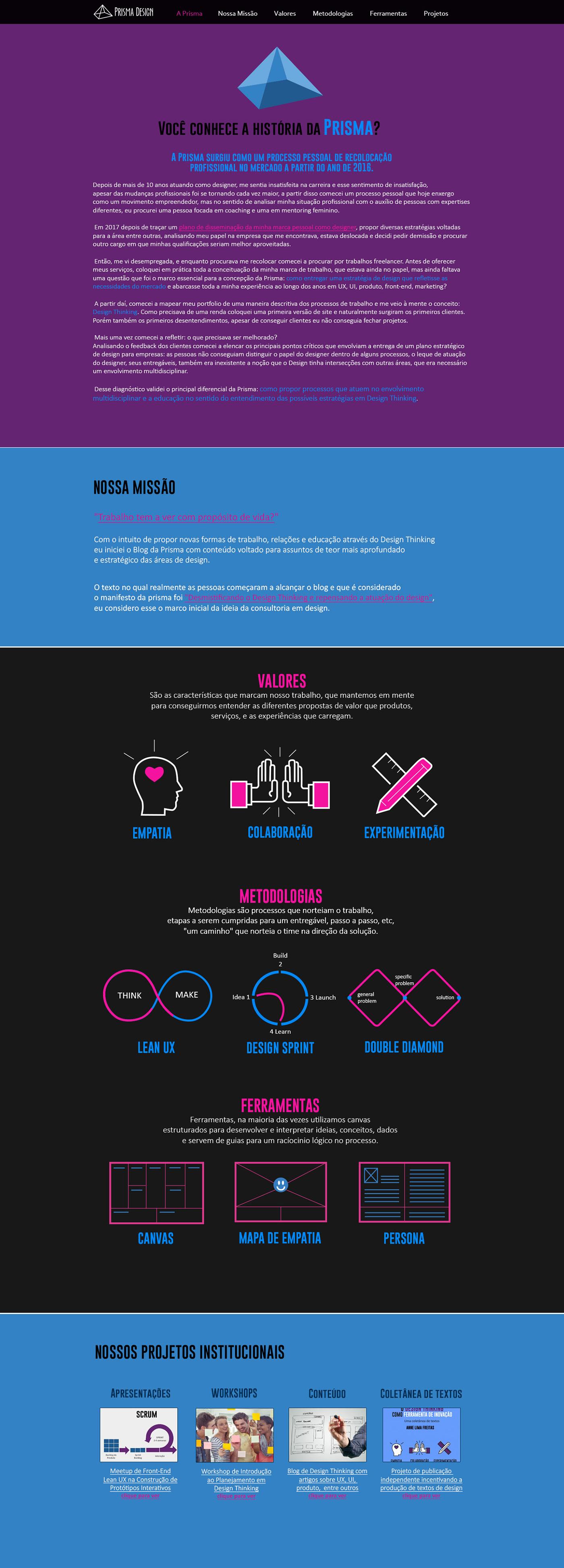 Interface UI user interface Direção de arte identidade visual visual guidelines style guides prismadesign annefreitasdesigner prismaconsultoriadedesign