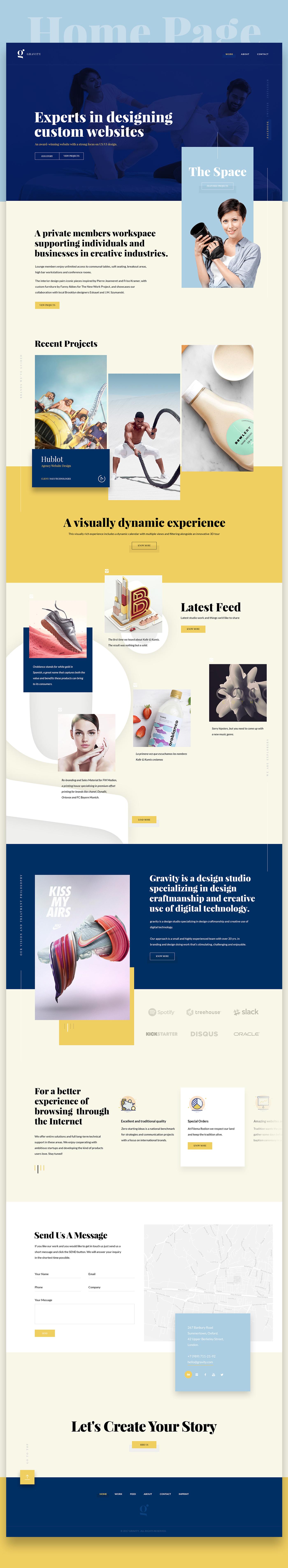 gravity Webdesign clean pixelzeesh