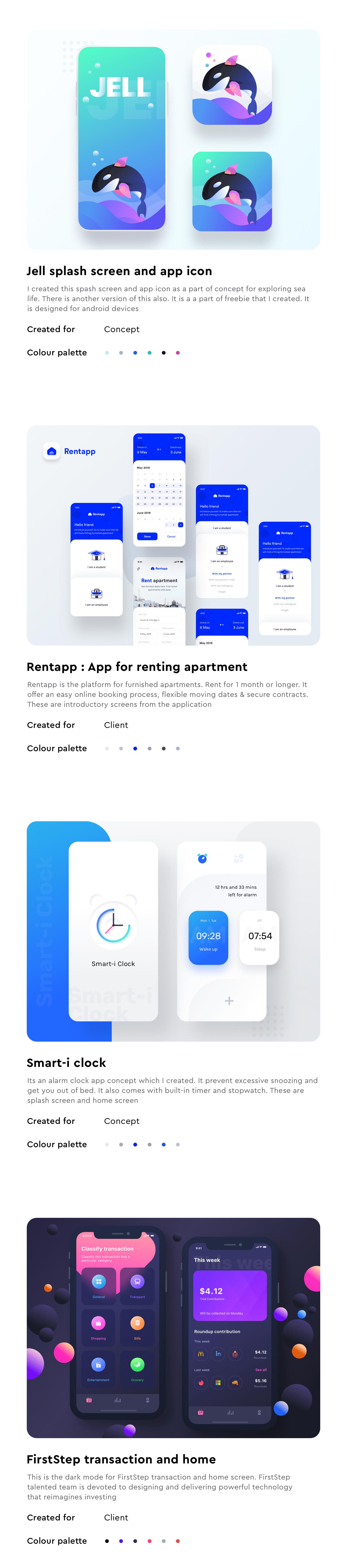2019 trending UI UX design modern clean minimal Dark Light Day Night Mode Mobile Application design ios apple android google software prakhar neel sharma