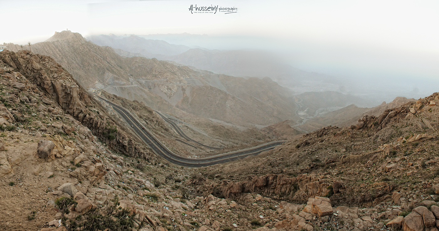 Al Taif Saudi Arabia  city photos : Al Hada Road, Taif Saudi Arabia Zig Zag Road on Behance