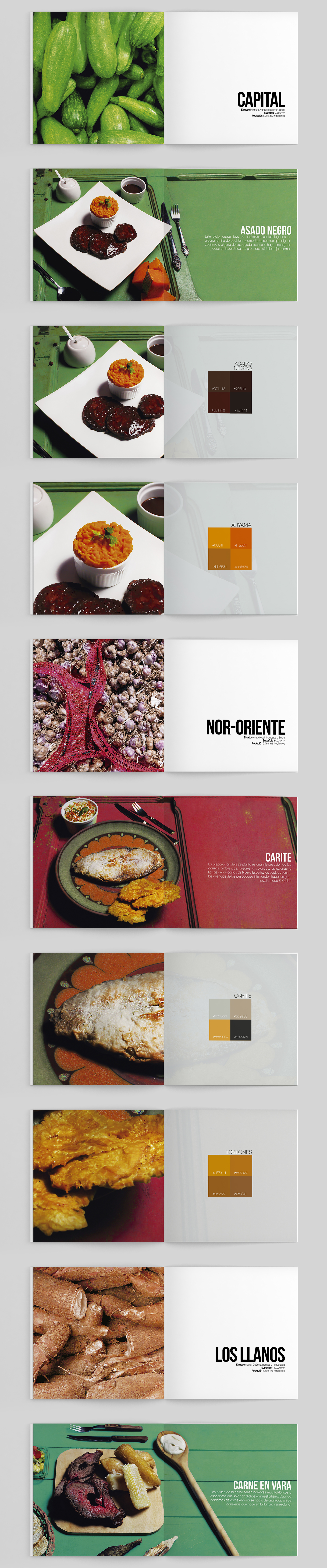 Food  color colorblocking book editorial