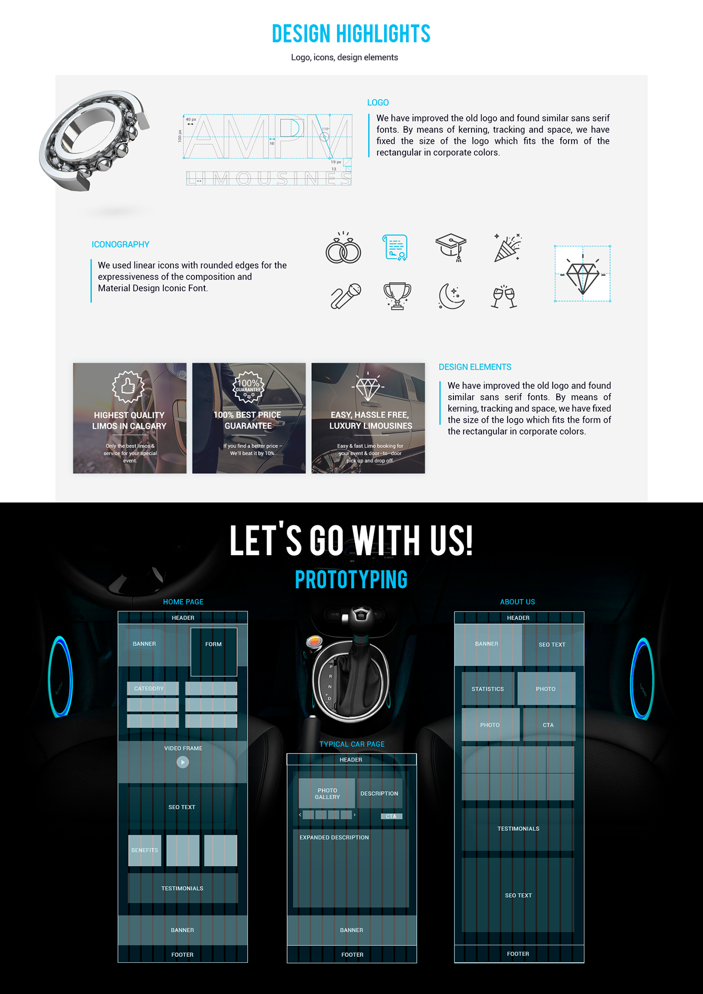 UI ux Rent car Auto interaction animation  web-design