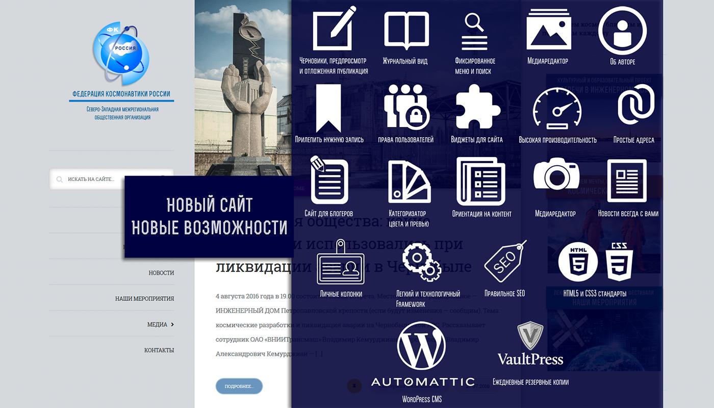 веб-дизайн Веб-разработка сайт для космонавтики сайт о технологиях красивый дизайн удобный сайт