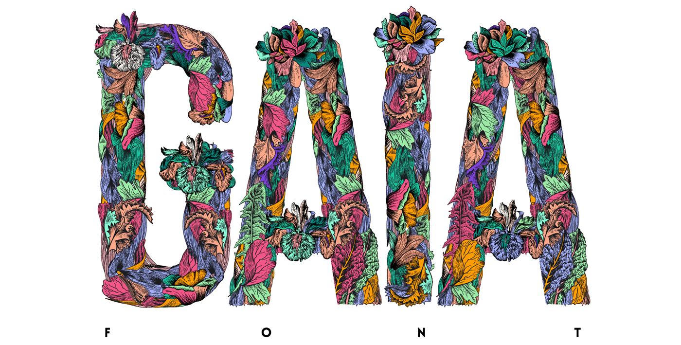 gaia font on behance