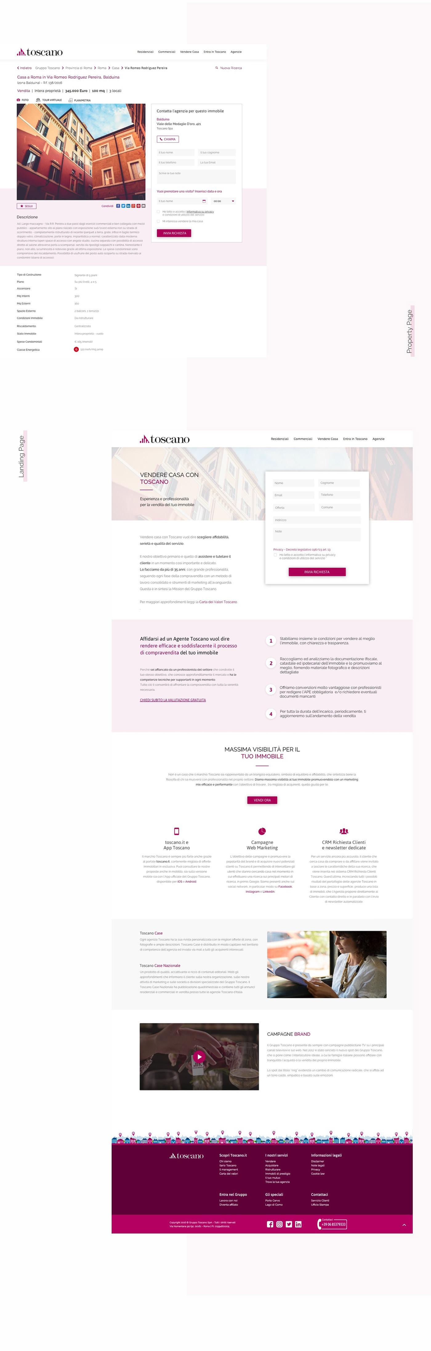 real estate Web Design  Website landing inspiration Layout property