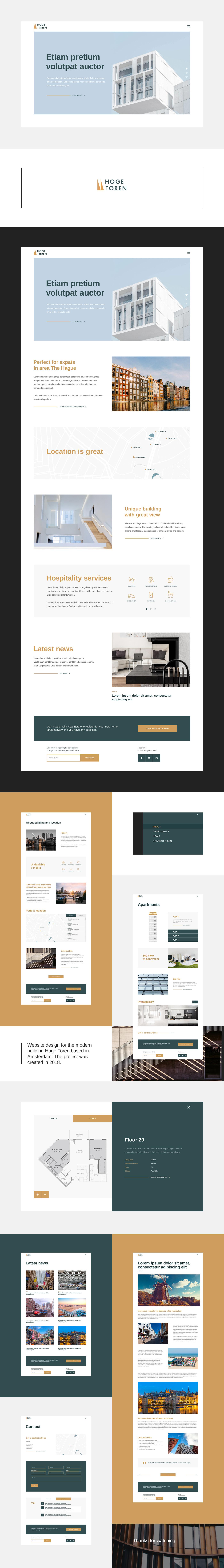 architecture ux UI design modern clean concept landingpage promosite Webdesign